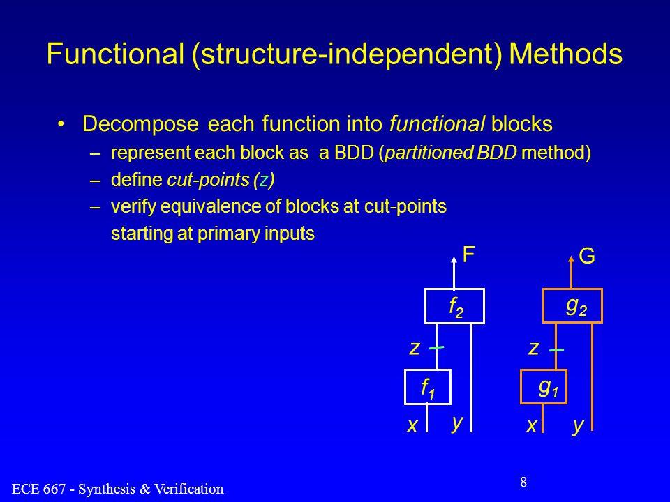 ECE 667 - Synthesis & Verification 9 Cut-point based EC 0.