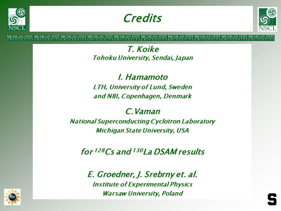 Credits T. Koike Tohoku University, Sendai, Japan I. Hamamoto LTH, University of Lund, Sweden and NBI, Copenhagen, Denmark C.Vaman National Supercondu