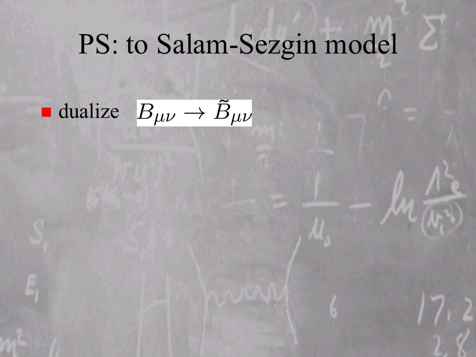 PS: to Salam-Sezgin model n dualize