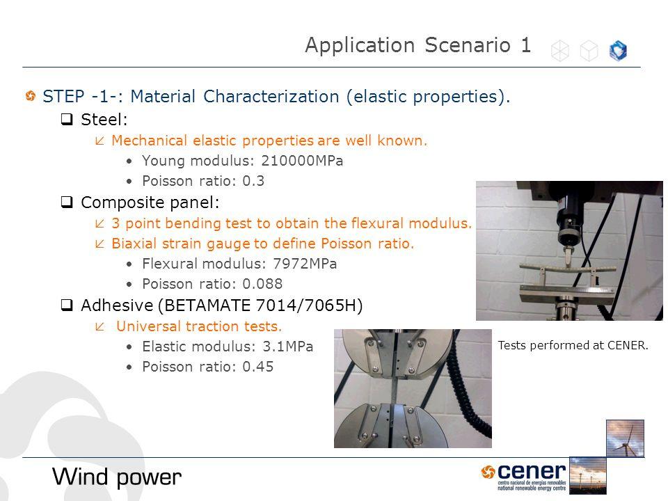 STEP -1-: Material Characterization (elastic properties).