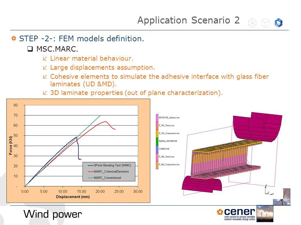 STEP -2-: FEM models definition.  MSC.MARC.  Linear material behaviour.