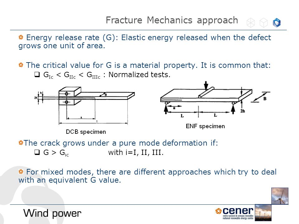 Energy release rate (G): Elastic energy released when the defect grows one unit of area.