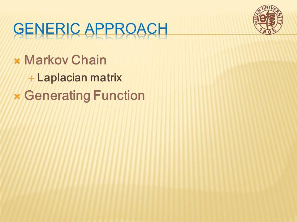  Markov Chain  Laplacian matrix  Generating Function