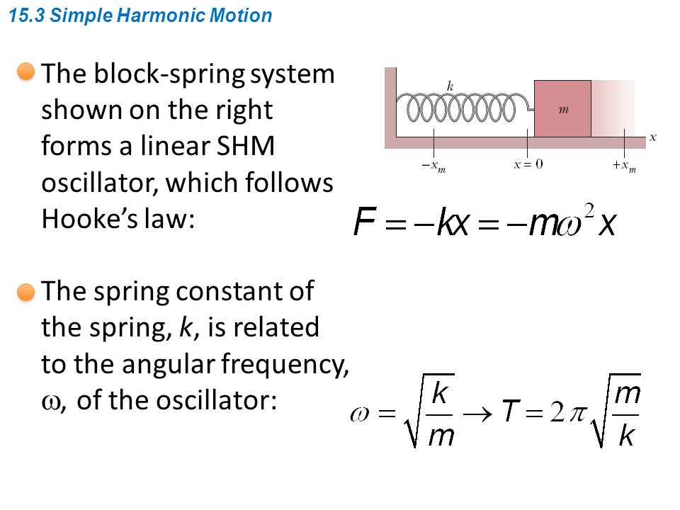 An angular SHM: The figure shows a torsion pendulum, which involves the twisting of a suspension wire as the disk oscillates in a horizontal plane.