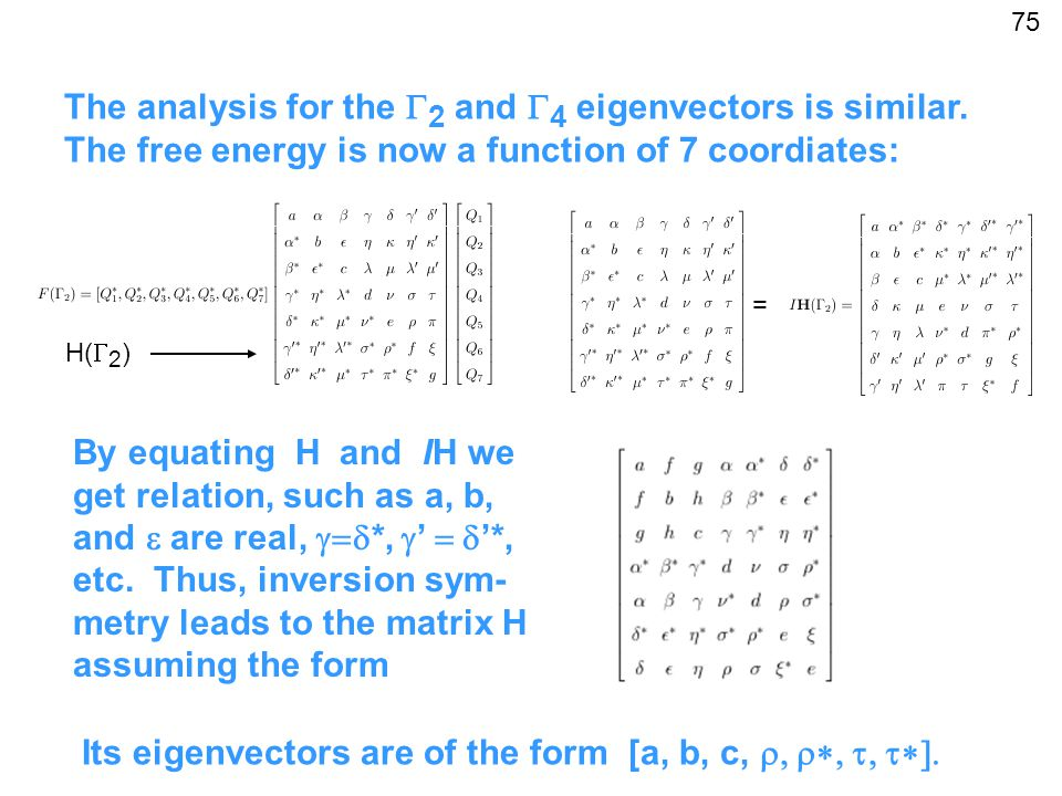 The analysis for the  2 and  4 eigenvectors is similar.