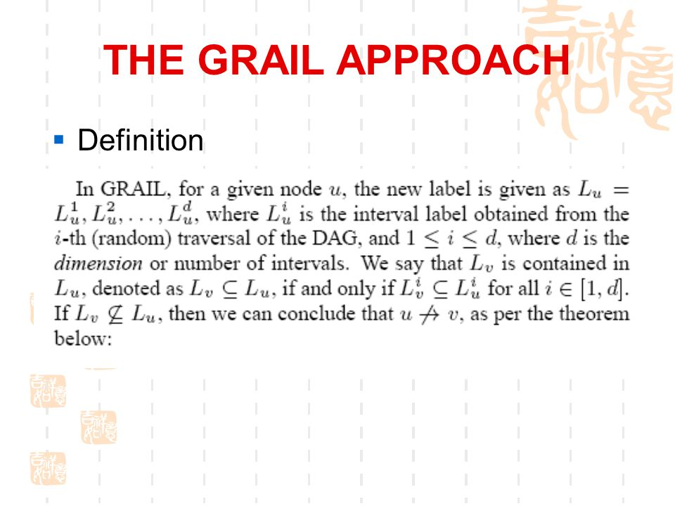 THE GRAIL APPROACH  Definition
