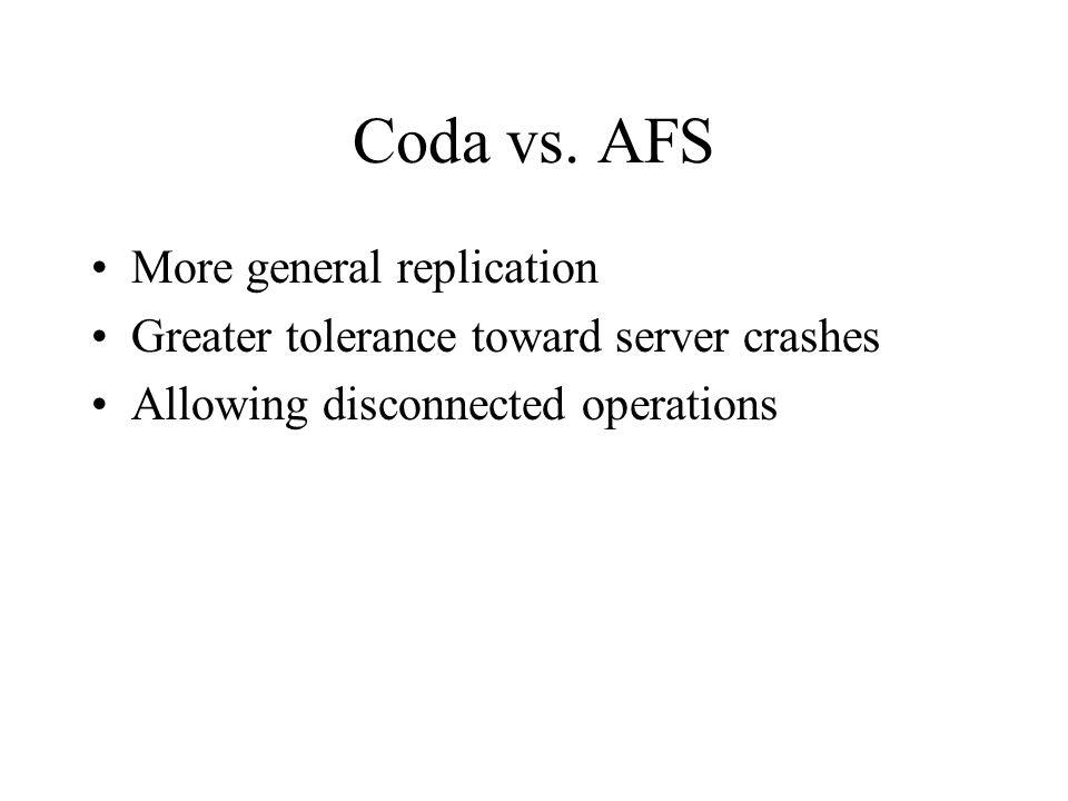 Coda vs.