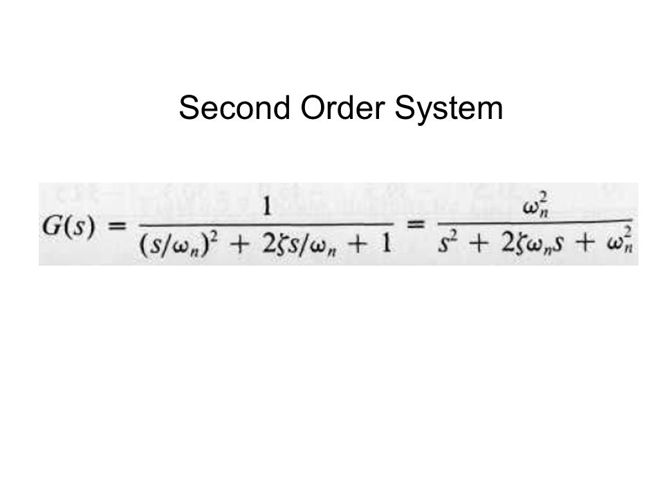 Second Order System