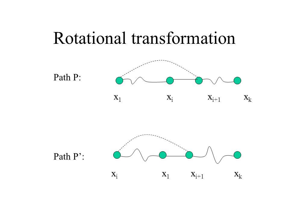 Rotational transformation x1x1 xixi x i+1 xkxk Path P: xixi x1x1 x i+1 xkxk Path P':