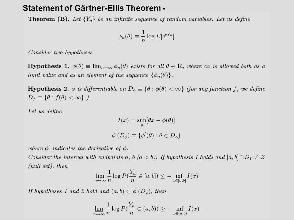Statement of Gärtner-Ellis Theorem -