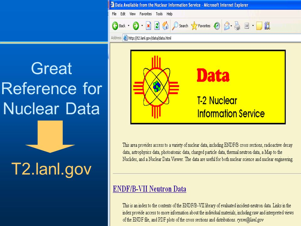 Great Reference for Nuclear Data T2.lanl.gov