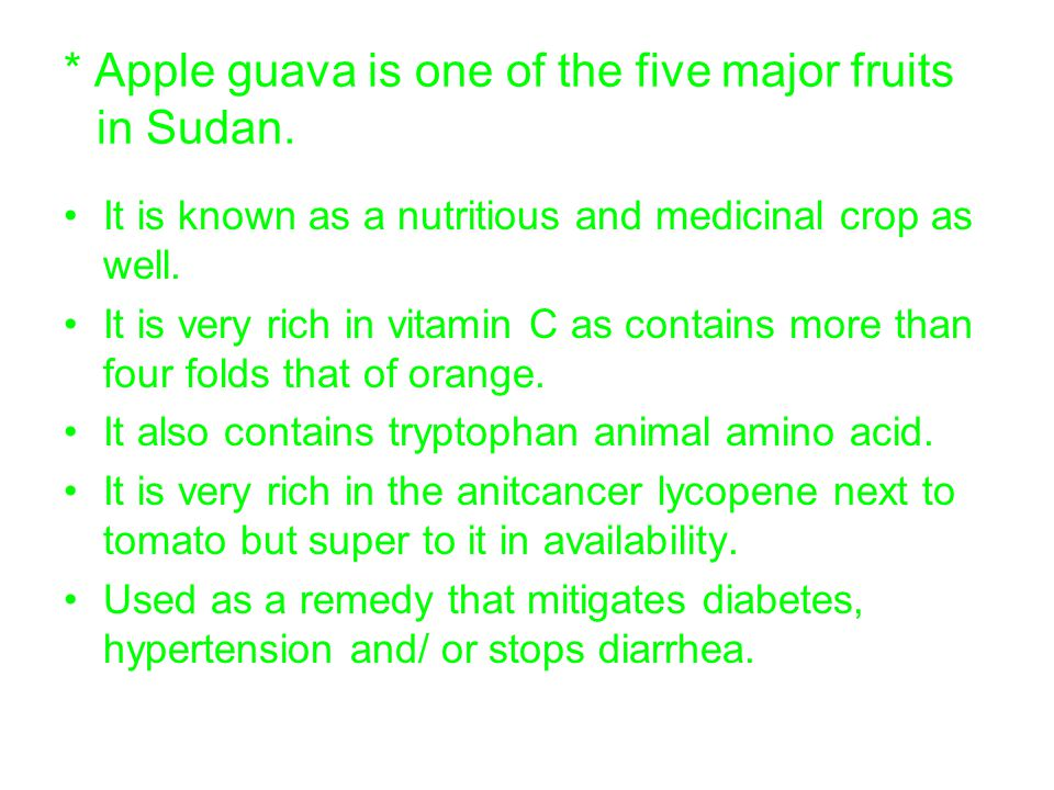 ®The guava fruit flies in Sudan The reported fruit flies from guava in Sudan include two genera (Ceratitis & Bactrocera) and four species (C.