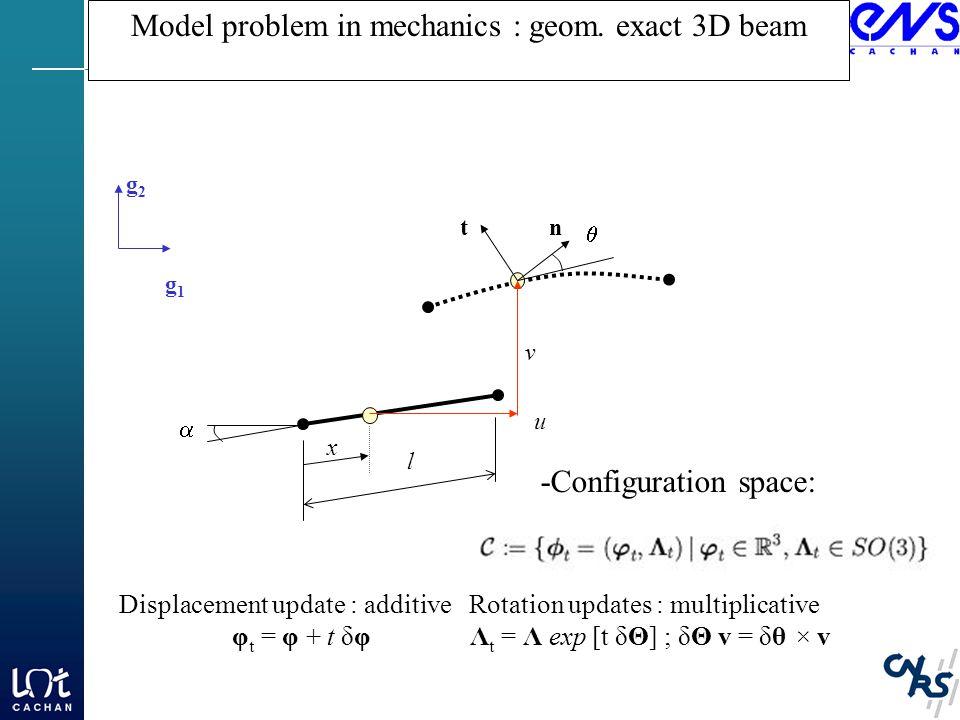 Model problem in mechanics : geom.