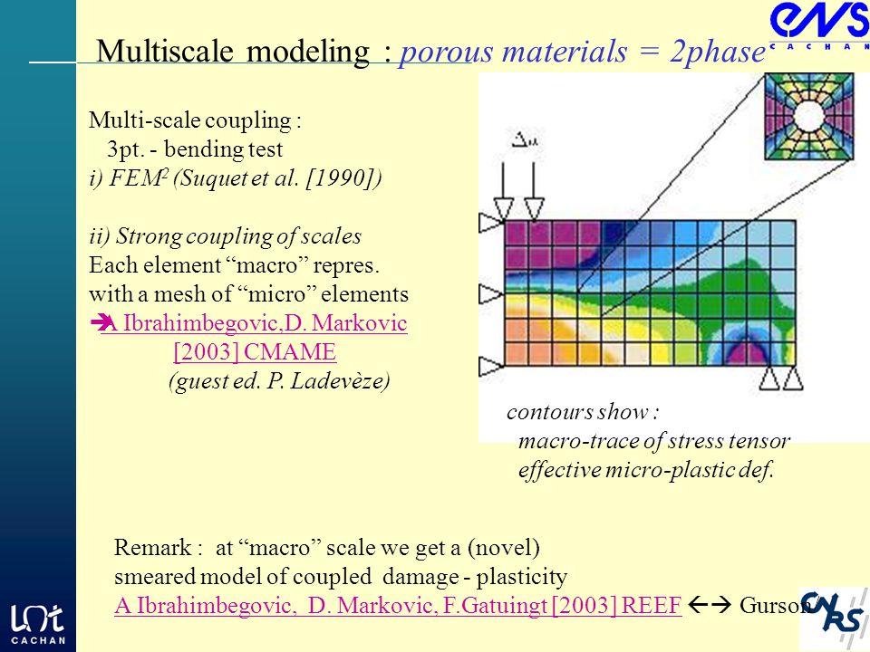 Multi-scale coupling : 3pt.- bending test i) FEM 2 (Suquet et al.