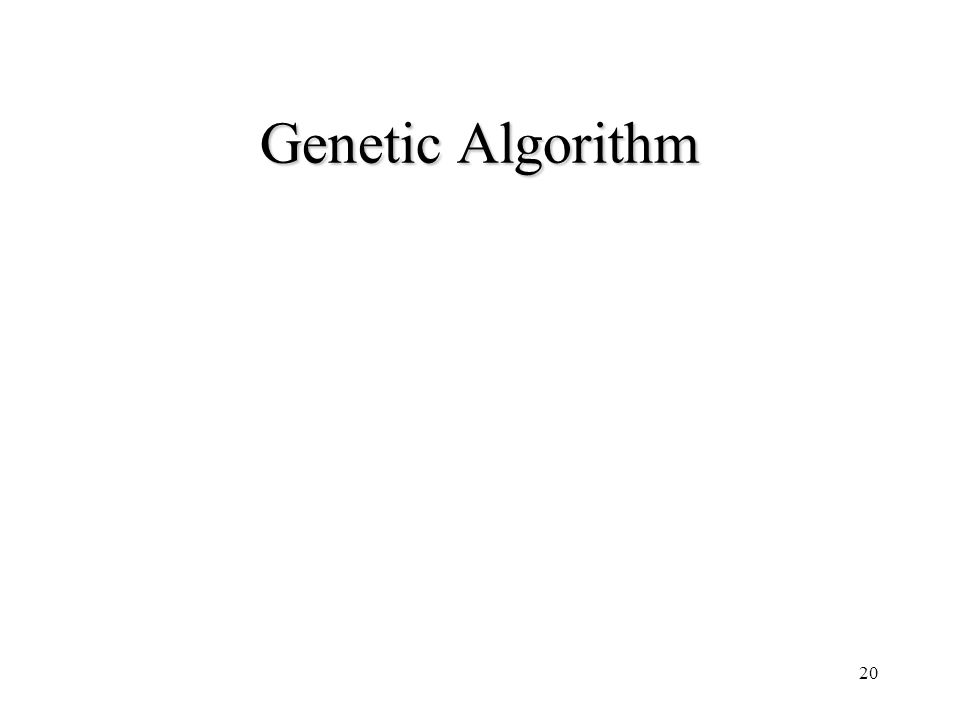 20 Genetic Algorithm