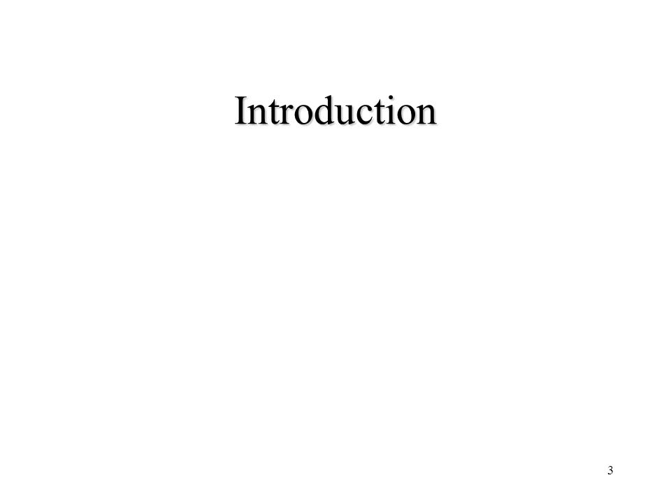3 Introduction