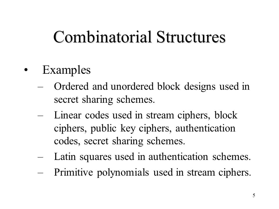 16 Construction of Correlation Immune Functions (Dawson, Wu 1997) Linear codes can be used to construct Boolean Functions with known order or correlation immunity and nonlinearity.