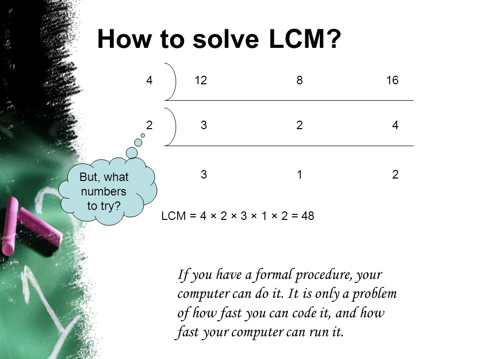 How to solve LCM.