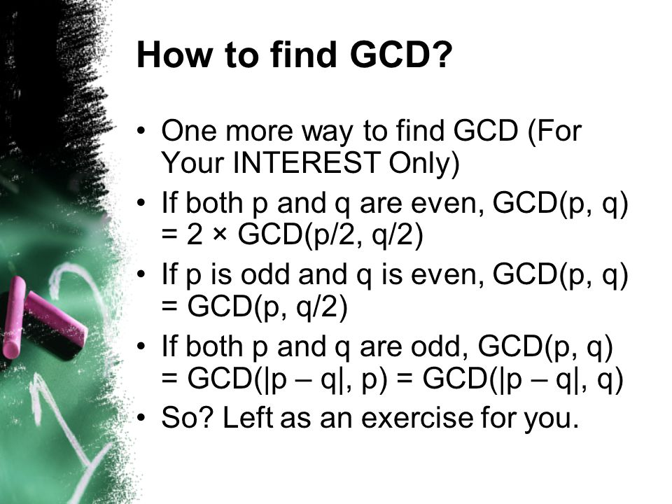 How to find GCD.