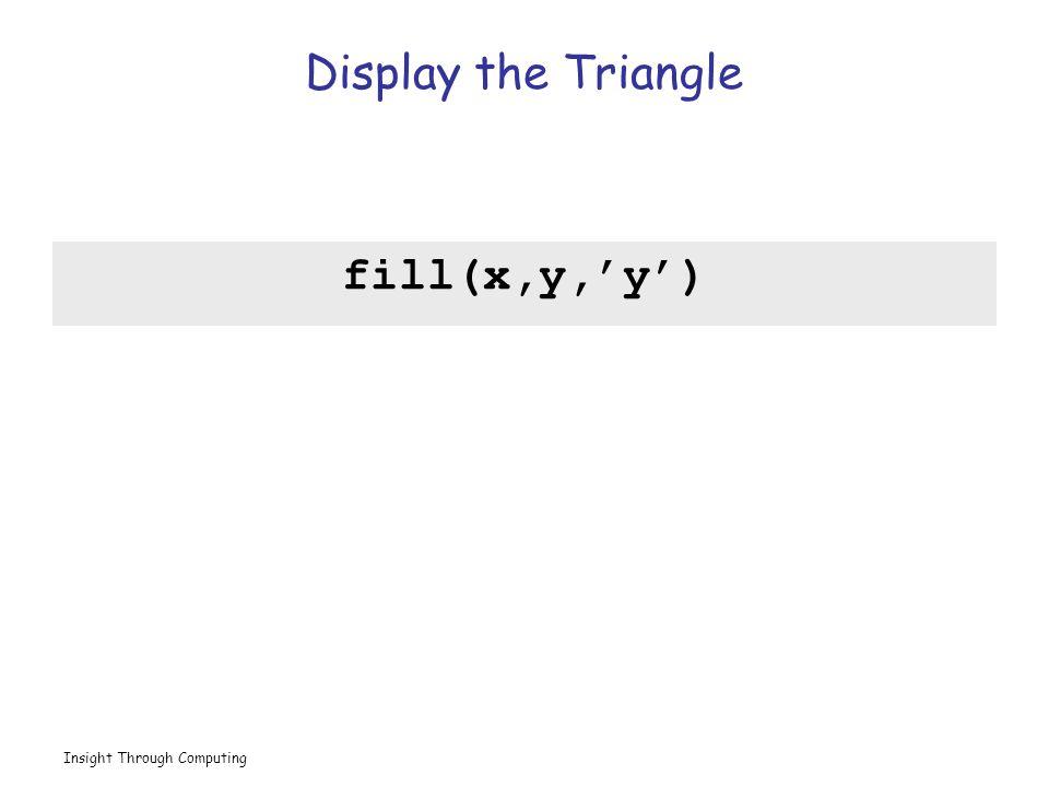 Insight Through Computing Display the Triangle fill(x,y,'y')