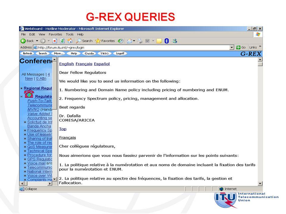 G-REX QUERIES