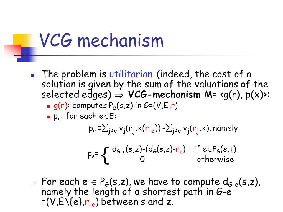 The best replacement path s z e 2 2 3 4 5 6 5 10 5 12 P G-e (s,z) P G (s,z) Remark: p e  r e, since d G-e (s,z)  d G (s,z)