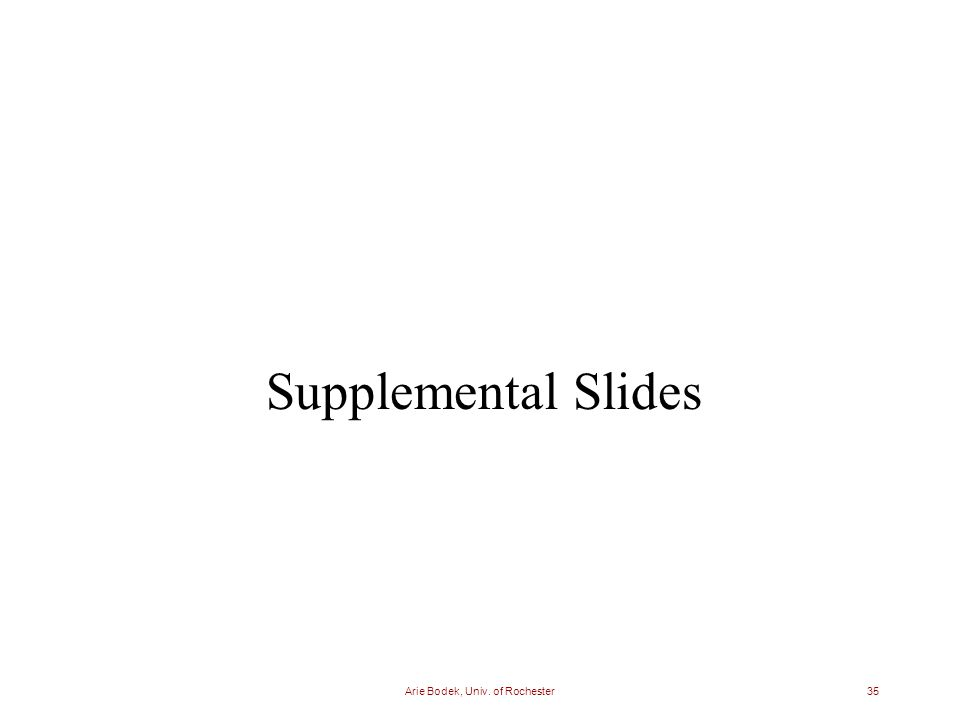 Arie Bodek, Univ. of Rochester35 Supplemental Slides