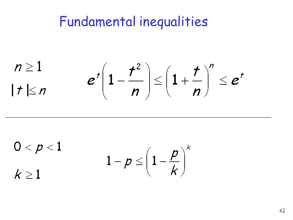 42 Fundamental inequalities