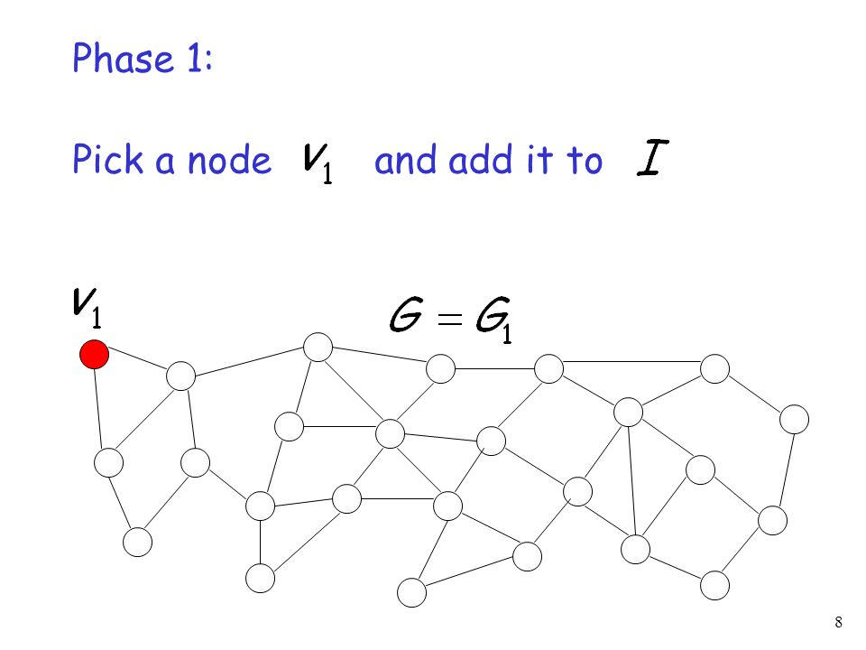 8 Pick a node and add it to Phase 1: