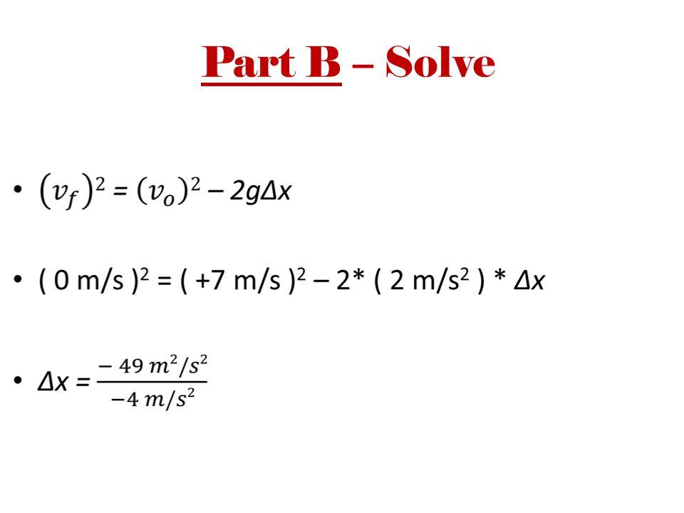 Part B – Solve