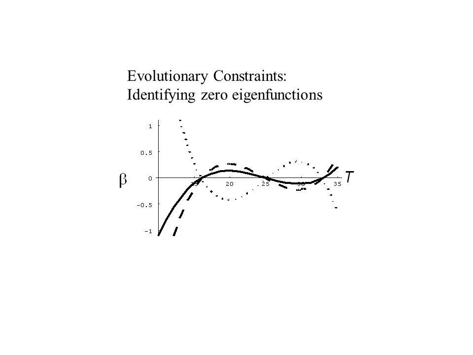 Evolutionary Constraints: Identifying zero eigenfunctions