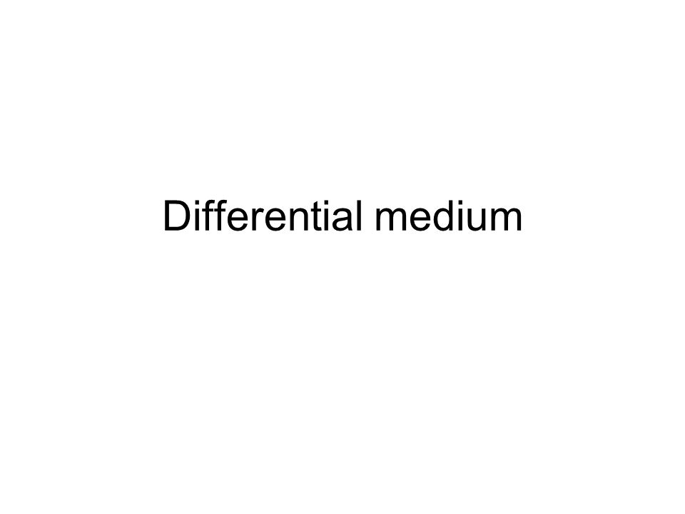 Differential medium