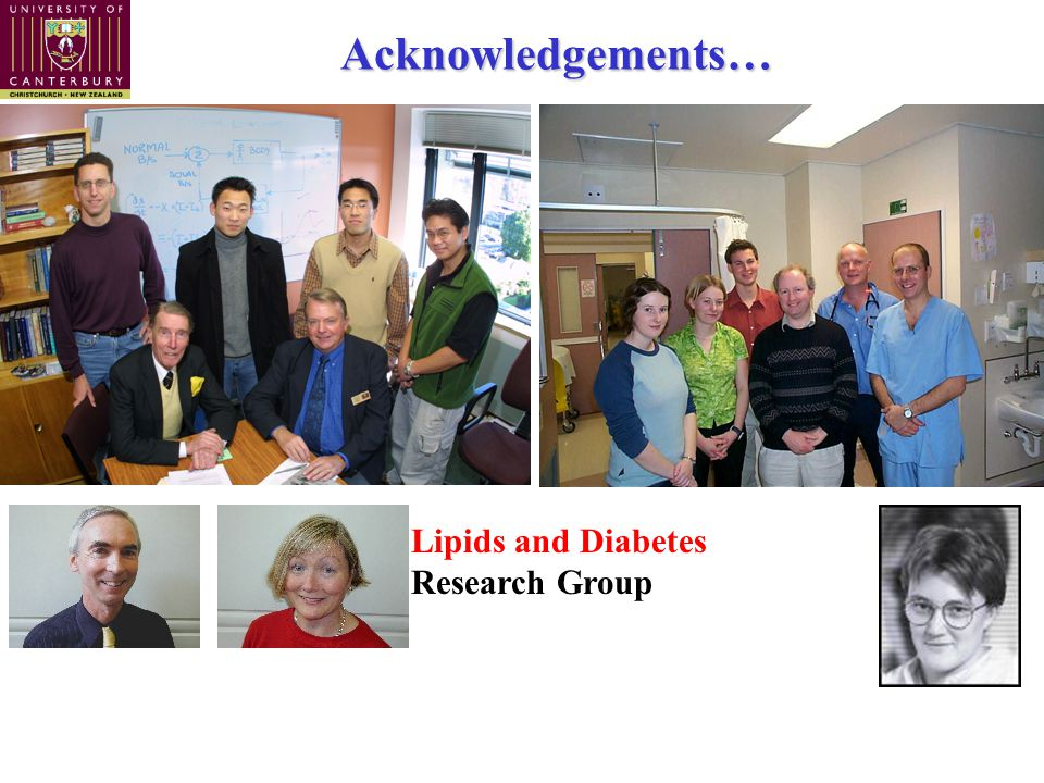 Acknowledgements… Lipids and Diabetes Research Group