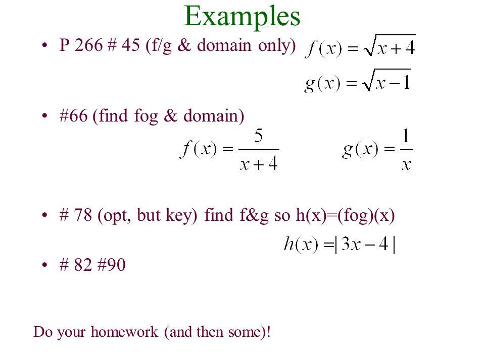 Ex Con't: Given f (x) = 3x – 4 and g(x) = x 2 + 6, find: c. (g o f)(-2) Solution c.