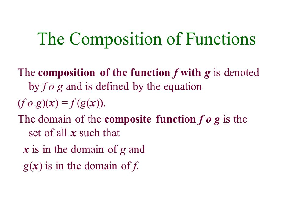 What we find is that the number of outings is a function of the number of friends we have, or F(x) = D(C(x)), we can write this more elegantly as pronounced, D of C of x. We can apply this concept to functions described in any way, for EXAMPLE if: We can find (Make observations.)