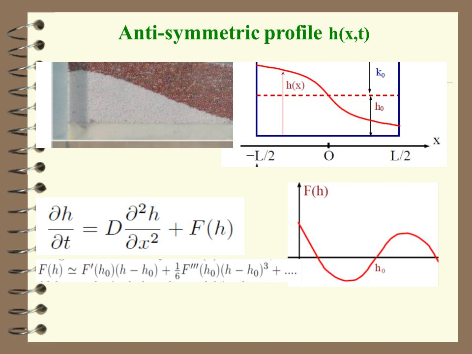 Anti-symmetric profile h(x,t)