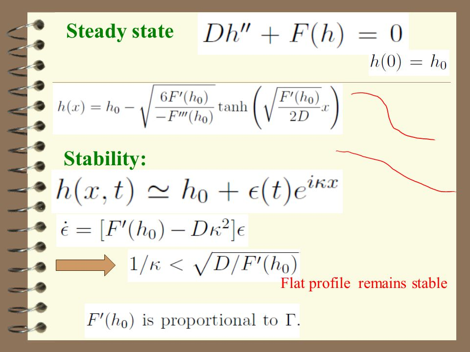 Steady state Stability: Flat profile remains stable