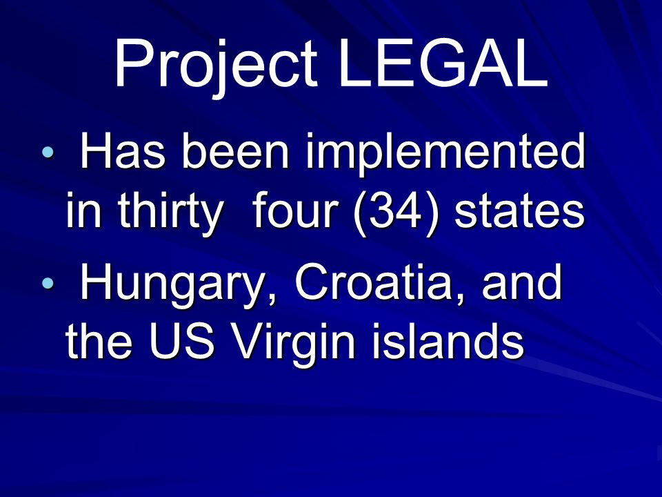 Project LEGAL's Validated Objectives Significant student growth in law-related problem-solving and critical thinking skills.