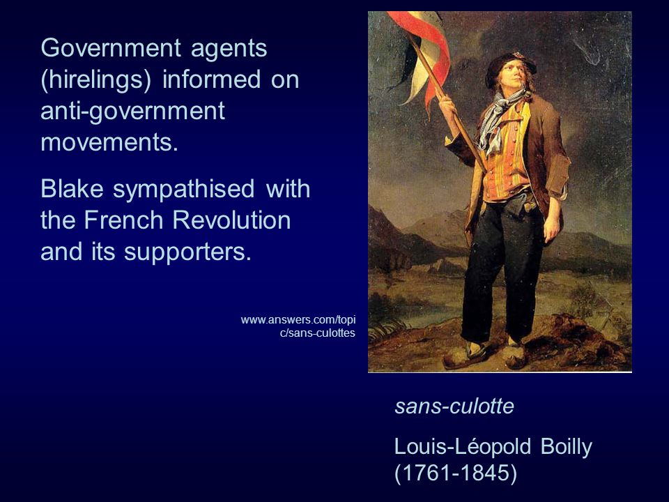Government agents (hirelings) informed on anti-government movements.