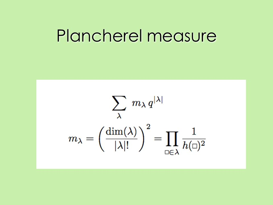 Plancherel measure