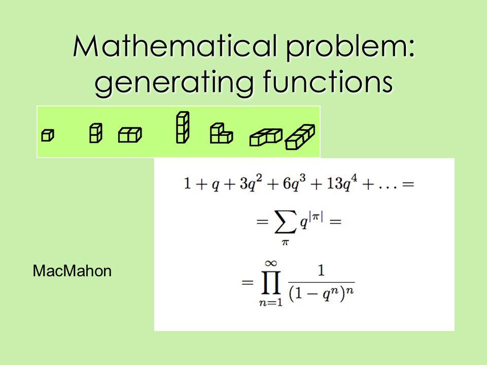 Mathematical problem: generating functions MacMahon
