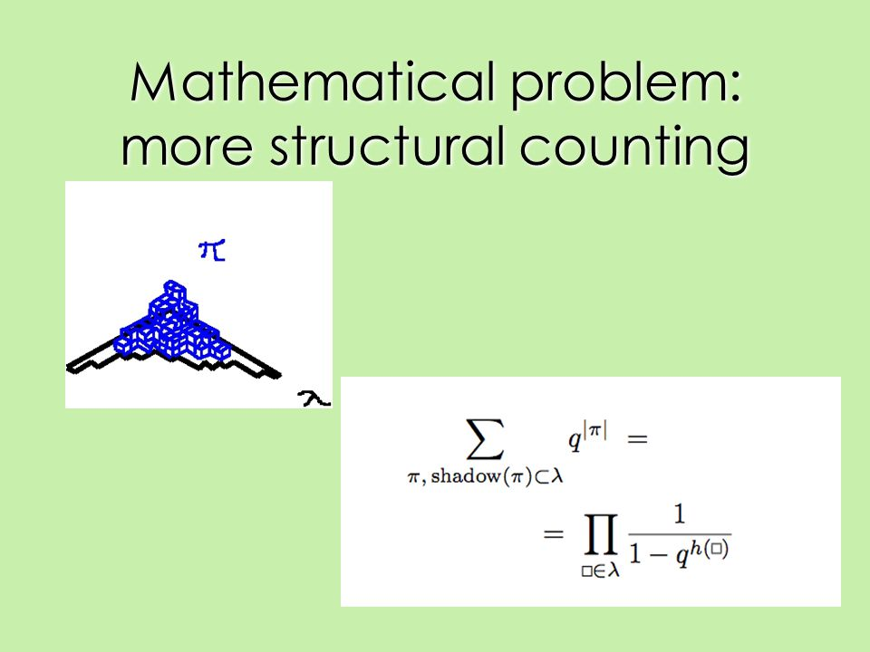 Mathematical problem: more structural counting