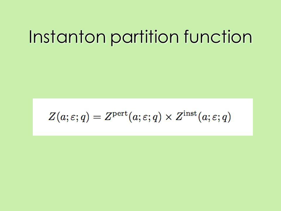Instanton partition function