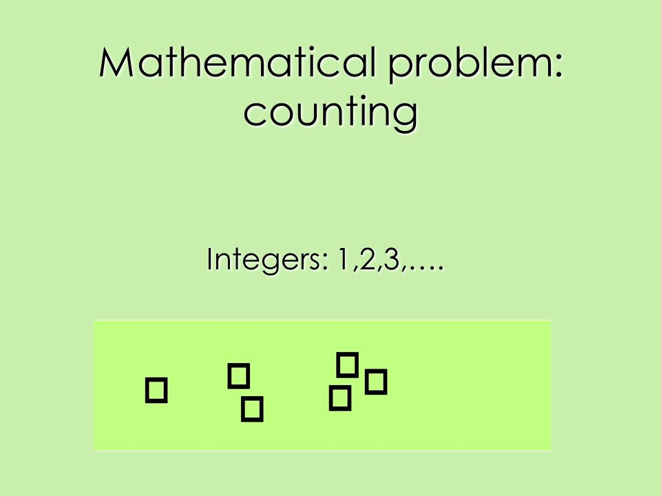 Mathematical problem: counting Integers: 1,2,3,….