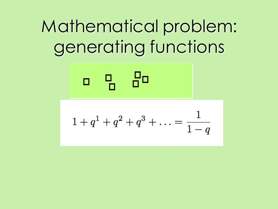 Mathematical problem: generating functions