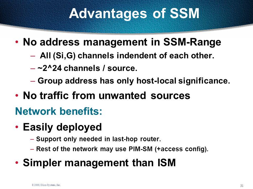 31 © 2000, Cisco Systems, Inc.