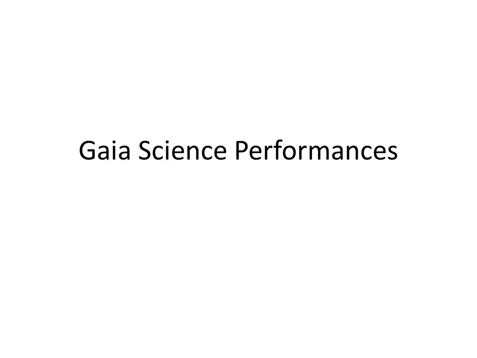 Gaia Science Performances