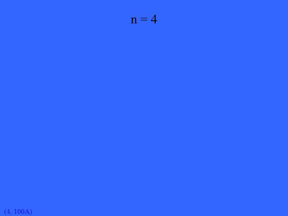 (4, 100A) n = 4