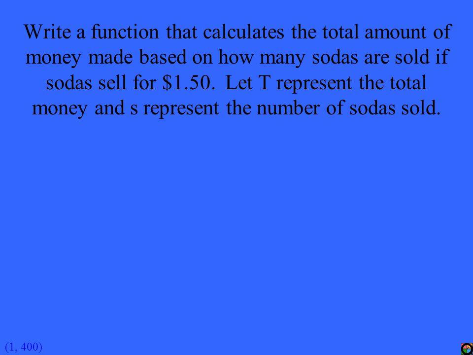 (4, 400A) x = -6