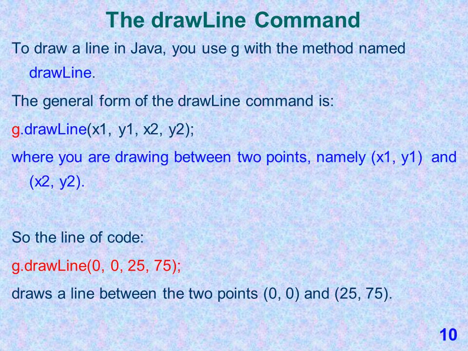Java Graphics Section 3 Java's Drawing and Painting Commands